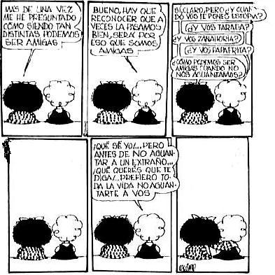 Algunas historietas de Mafalda